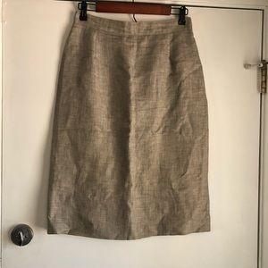 Vintage Electre Paris Linen Skirt Size 42/8